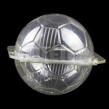 Kunststoff 3D Fußball form silikonbackenschokoladenform, transparentem polycarbonat schokolade süßigkeiten gebäck kuchen dekoration werkzeuge