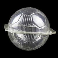 Plastic 3D Football Shape Baking Chocolate Mold Transparent Polycarbonate Chocolate Candy Mould Pastry Cake Decoration Tools