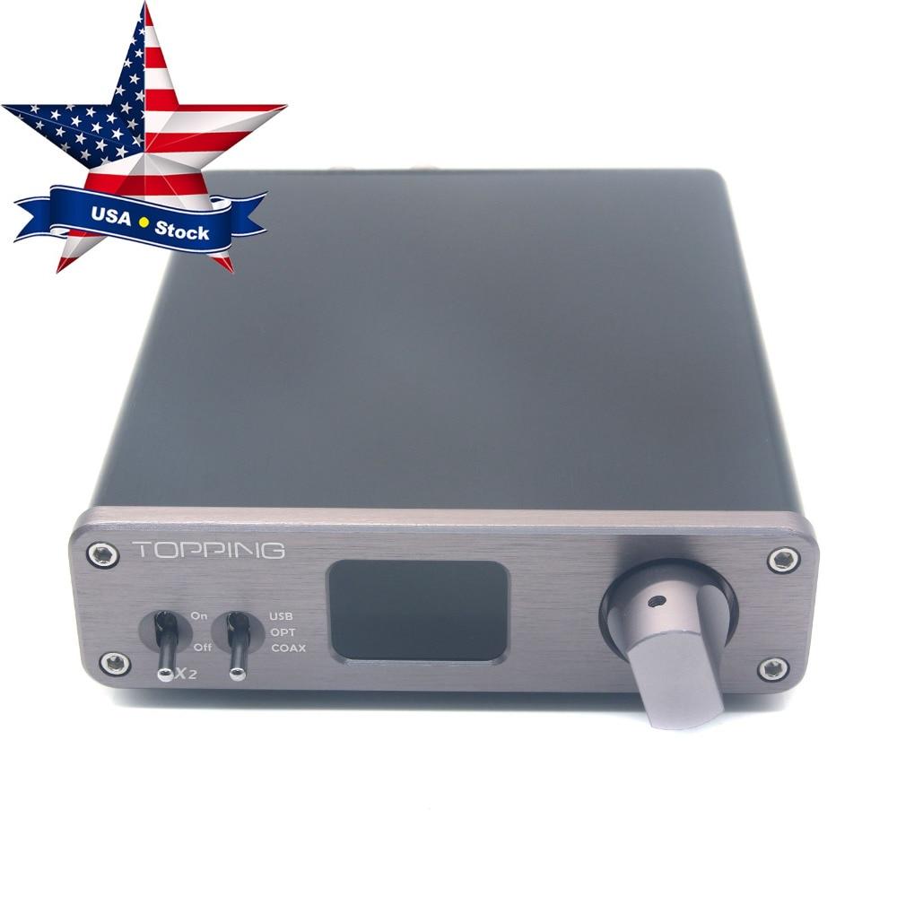 все цены на  VX2 HiFi Audio Digital Amplifier Stereo 2x40W 2CH 24bit/192kHz Amp Support USB Coaxial Optical Fiber Topping Gray USA Stock  онлайн