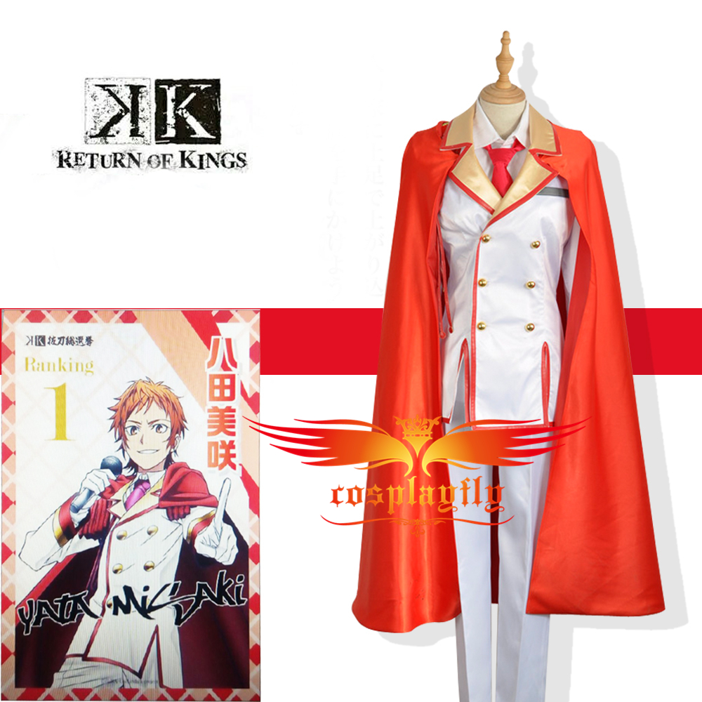 K Anime Return Of Kings Homra Red Group Yata Misaki Cosplay Army Military Uniform Costume Custom Made with Red Long Cloak