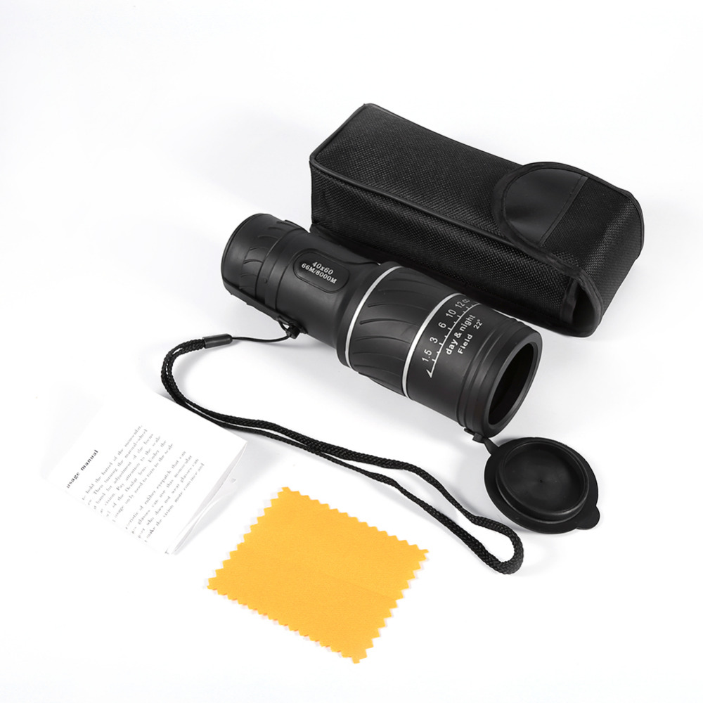 40x60 Clarity HD Optic Zoom Pocket Telescope Monocular Telescope Night Vision Green Film Optics Telescope for Outdoors Travel