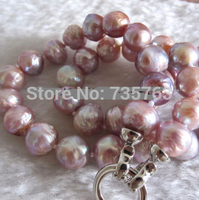 HOT Lavender Kasumi Freshwater Pearl Necklace Jewelry A+10 11mm