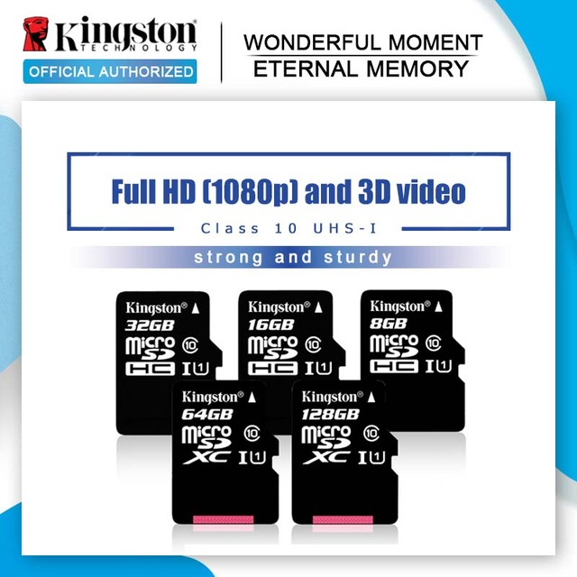 Kingston Class 10 16 GB 32 GB MicroSDHC 8 GB Class 4 Thẻ Micro SD UHS-I TF Thẻ Nhớ MicroSD 64 GB MicroSDXC