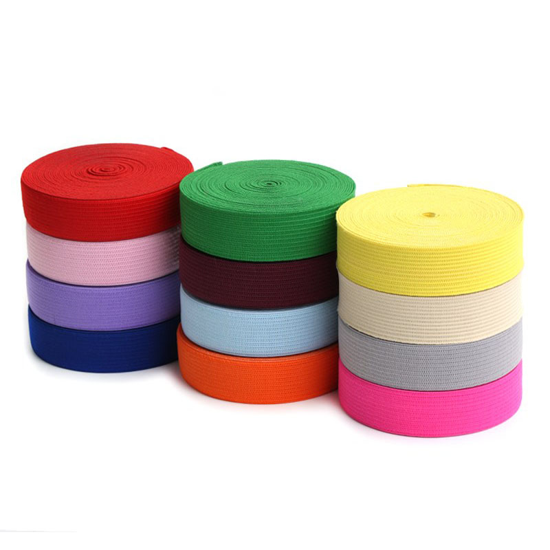 2CM 2.5CM Colorful Nylon Elastic Bands 20mm 25mm Rubber Band Garment Trousers Bags Underwear Pants Home Sewing Accessories DIY