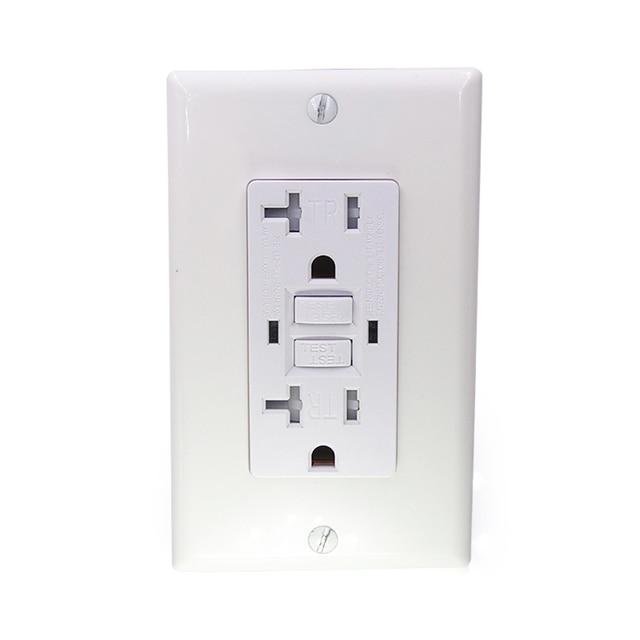 GFCi USA US standard Power Socket,Universal Plug Socket Port Power Adapter Outlets,Tamper Resistant Duplex Receptacle,Auto Test