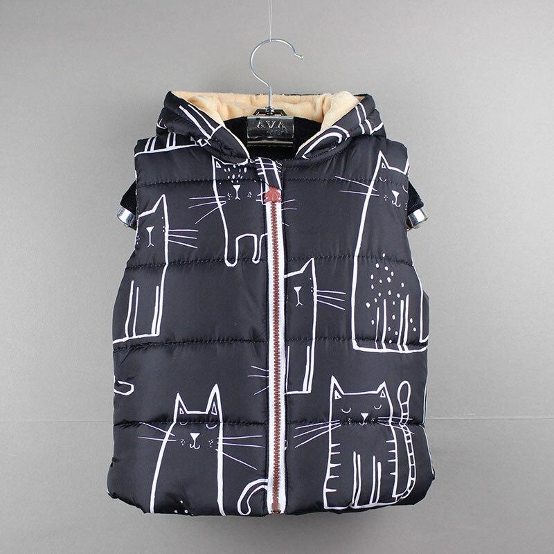 Boys Girls Winter Outerwear Children Clothing Coats Cat ...