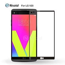 Nicotd 9 H 2.5D красочные полное покрытие Экран протектор Закаленное Стекло для LG V20 Взрывозащищенный Защитная Плёнки для LG k10