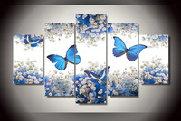 HD Printed blue white flowers blossom Painting Canvas Print room decor print poster picture canvas Free shipping/ny-3017