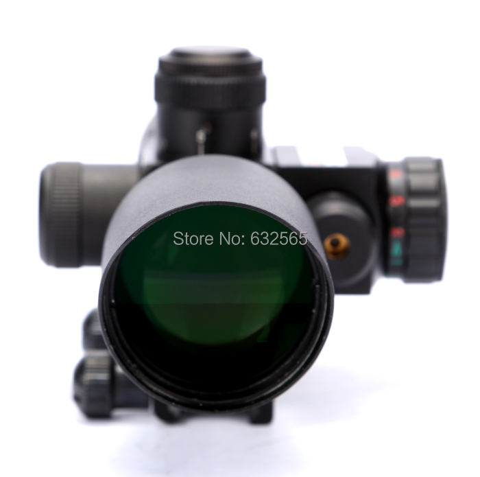 ФОТО Free Shipping 2.5-10X40 Military Hunting Shooting Scope with Laser Sight