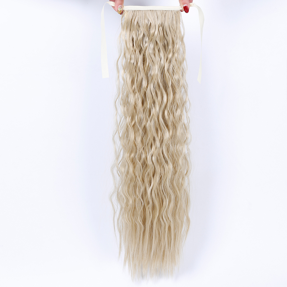 JINKAILI WIG Long Curly Wavy Hair Extensions New Women Girls Cute Synthetic Long Curly Ponytail Lovely Hair Extensions