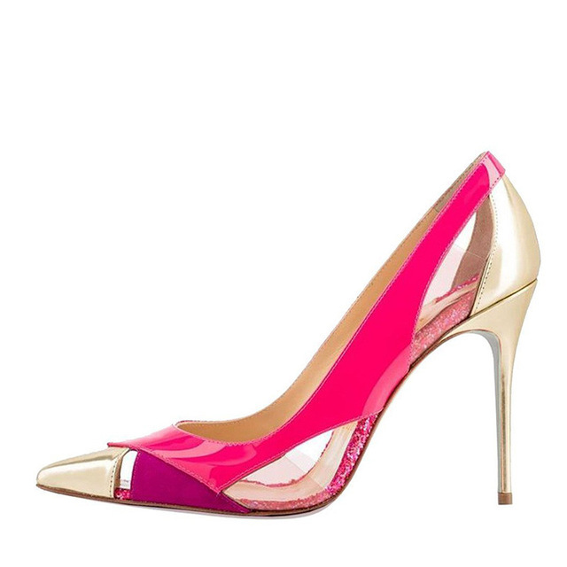 Carole Levy New Arrival Summer Shoes Women Mixed Color Pointed Toe Shallow Stilettos Lady Elegant Pumps This Heel Single ShoesCarole Levy New Arrival Summer Shoes Women Mixed Color Pointed Toe Shallow Stilettos Lady Elegant Pumps This Heel Single Shoes