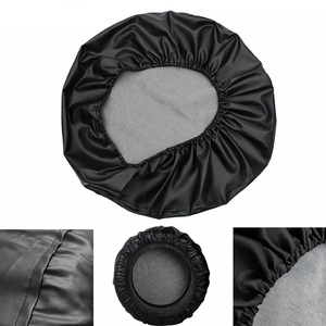 "Image 2 - 15"" 16"" Inch (Tire Diameter 27""  31"") Heavy Duty PVC Leather Spare Tire Cover Bag Case Pouch Protector For Isuzu BIGHORN"