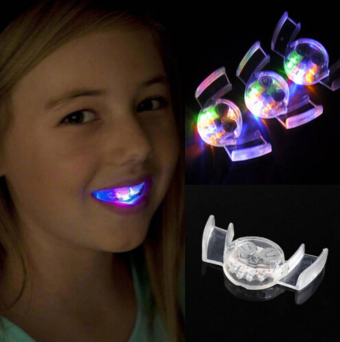 LED Toys Colorful Flashing Flash Brace Mouth Guard Piece Festive Party Supplies Glow Tooth Funny LED Light Toys YH227