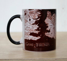 Color Changing Mug with Game of Thrones Map print
