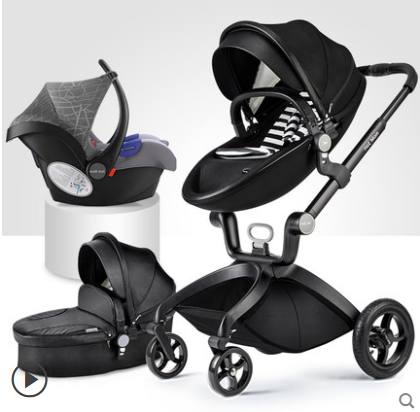 IL Free Ship ! Hot mum brand baby strollers 3 in 1 baby car high quality with baby sleeping basket
