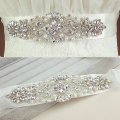 New Sparkly Rhinestones Beaded Wedding Belts With Crystals Handmade Bridal Sashes For Bride Dress 2016 Wedding Accessories