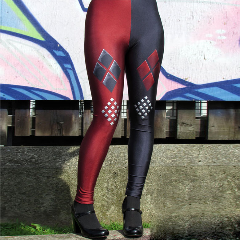 New Arrival 1473 Sexy Girl Comics Suicide Squad Harley Quinn Printed Elastic Fitness Workout Polyester Women Leggings Pants