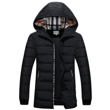 new males's new top quality winter jacket vogue cotton down jacket Brand coat Size 4XL winter jacket males black plus dimension