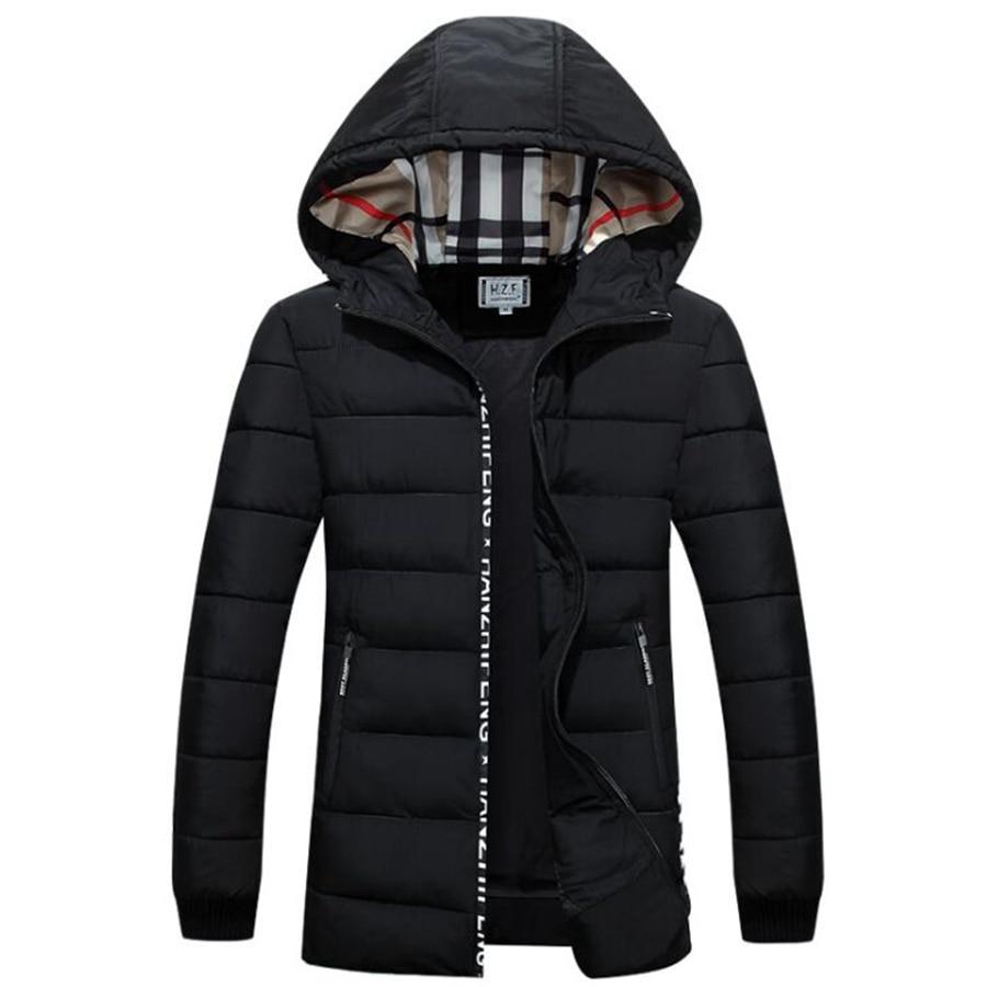 new men's new high quality winter jacket fashion cotton down jacket Brand coat Size 4XL winter jacket men black plus size