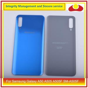 Image 4 - 10 pièces/lot pour Samsung Galaxy A50 A505 A505F SM A505F boîtier batterie porte arrière couvercle en verre boîtier châssis coque A50 2019
