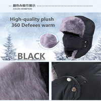 2021 new  winter bomber hats ushanka russian fur hat warm thickened ear flaps cap for men&women mask balaclava