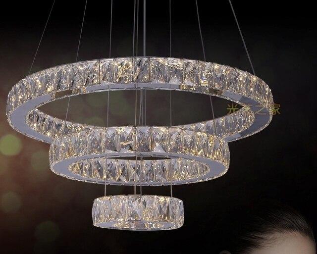Kristall Led Kronleuchter ~ Freies verschiffen kristall ring led kronleuchter kristall lampe