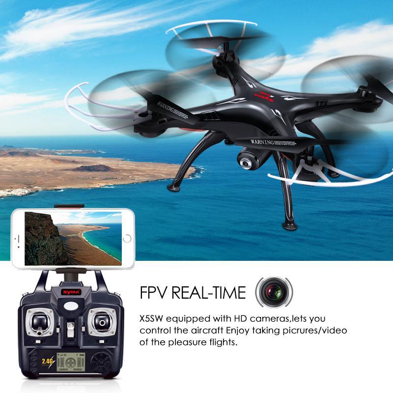 SYMA X5SW Drone z WiFi kamery w czasie rzeczywistym transmisji FPV Quadcopter quadrocoptera (X5C aktualizacja) kamera HD Dron 4CH RC helikopter w Helikoptery RC od Zabawki i hobby na AliExpress - 11.11_Double 11Singles' Day 1