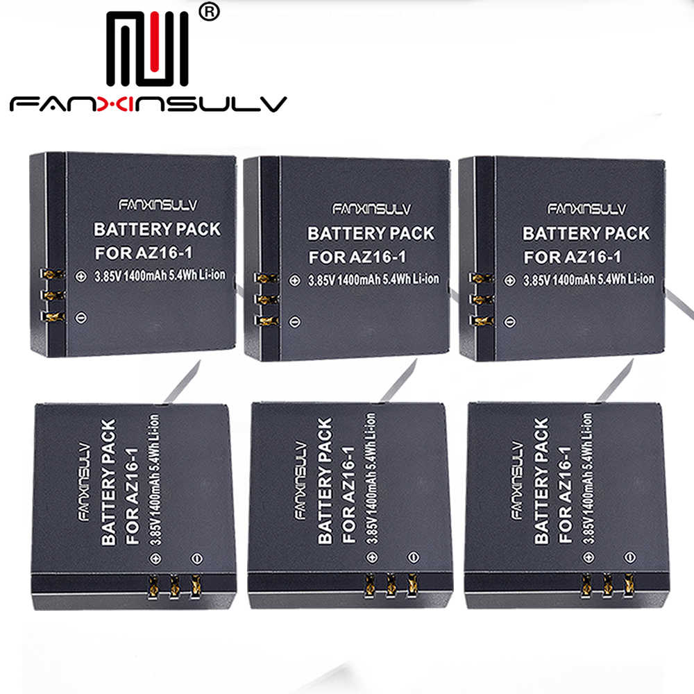 6 x AZ16 1 Battery AZ16-1 + 6 x battery box For Xiaomi Yi 2 4K Battery Yi 4K+ Yi 360 VR Original Xiao Mi Yi Lite Action Cameras