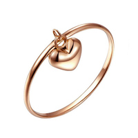 Authentic 18K Rose Gold Ring Classic Engagement Ring Design Female Women Loving Heart Wedding Rings Jewelry US 6 &9 &11 Size