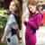 Venta CALIENTE del otoño fija 2 unids/set 2017 Púrpura gris color Microfibra mujeres traje Con Capucha mujeres del resorte sudadera patacwork Conjuntos
