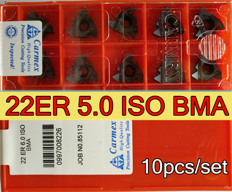 22ER 5 0 ISO BMA 10pcs set Carmex CNC External thread carbide insert Processing stainless steel