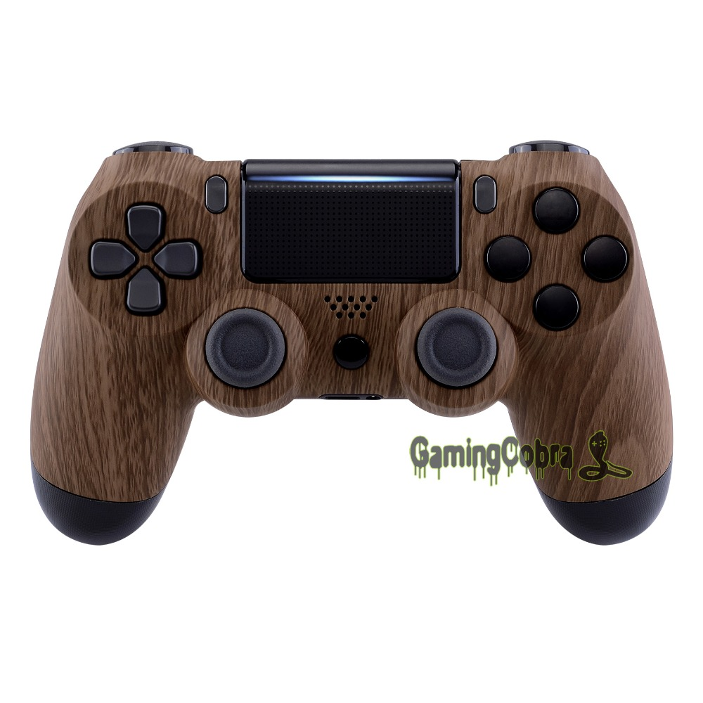 Wooden Grain Customized Housing <font><b>Shell</b></font> for PS4 Pro Slim Controller <font><b>JDM</b></font>-040 050 <font><b>055</b></font> image