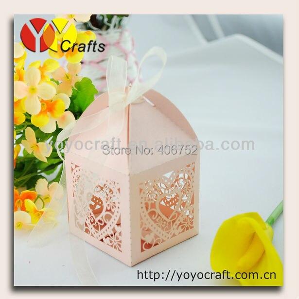 WB008 Warm Heart Wedding Cake Box Wholesale Price Wedding Favor
