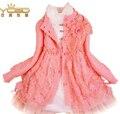 Anlencool envío gratis niños escudo otoño nueva ola coreana de lana chaqueta y la camisa pieza equipada princesa dress de los niños chaquetas