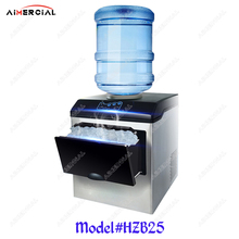 цена HZB25 electric commercial ice maker machine ice cube maker ice making machine with capacity 25kg/24h онлайн в 2017 году