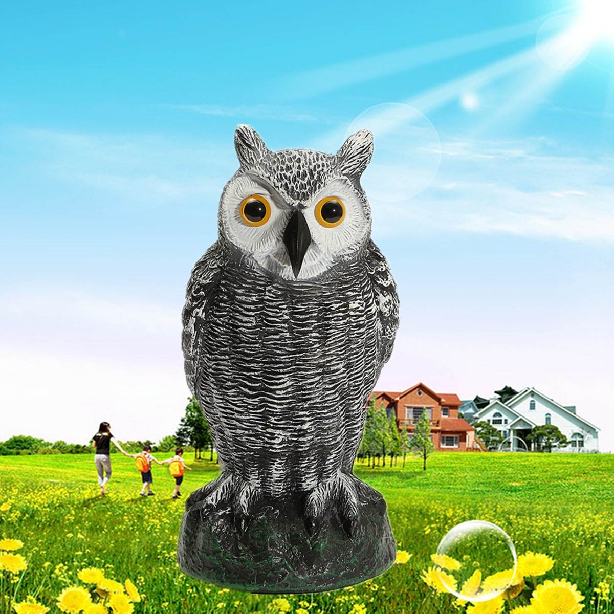 Animal ornaments - Hunting Decoys Plastic Owl Outdoor Garden Decoration Ornaments For Hunting Decoys Scarer Scarecrow