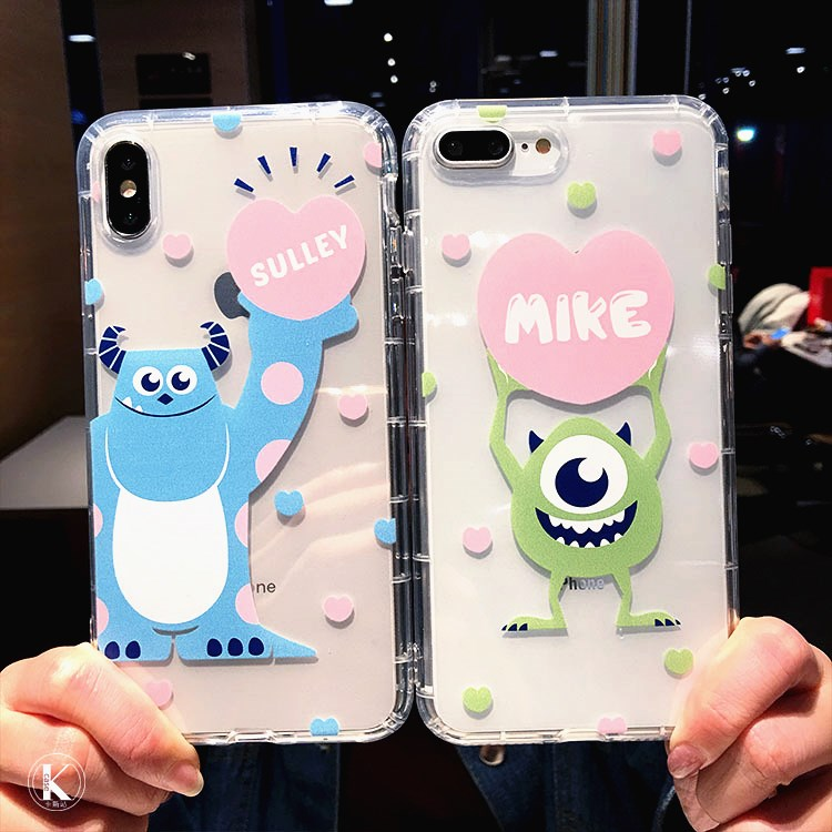 Cute Monsters <font><b>Toy</b></font> <font><b>Story</b></font> Mike Sulley Cartoon Clear Soft Cover Case For <font><b>iPhone</b></font> XS Max XR X <font><b>6</b></font> 6S 7 8 Plus Phone Cases Coque <font><b>Fundas</b></font> image