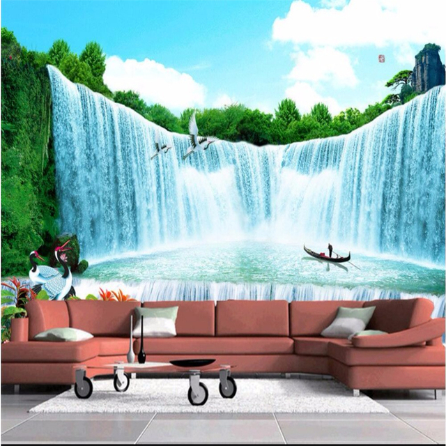 Beibehang Large Wallpaper Mural Custom Any Size Three: Beibehang Wallpaper Living TV Company Office Landscape