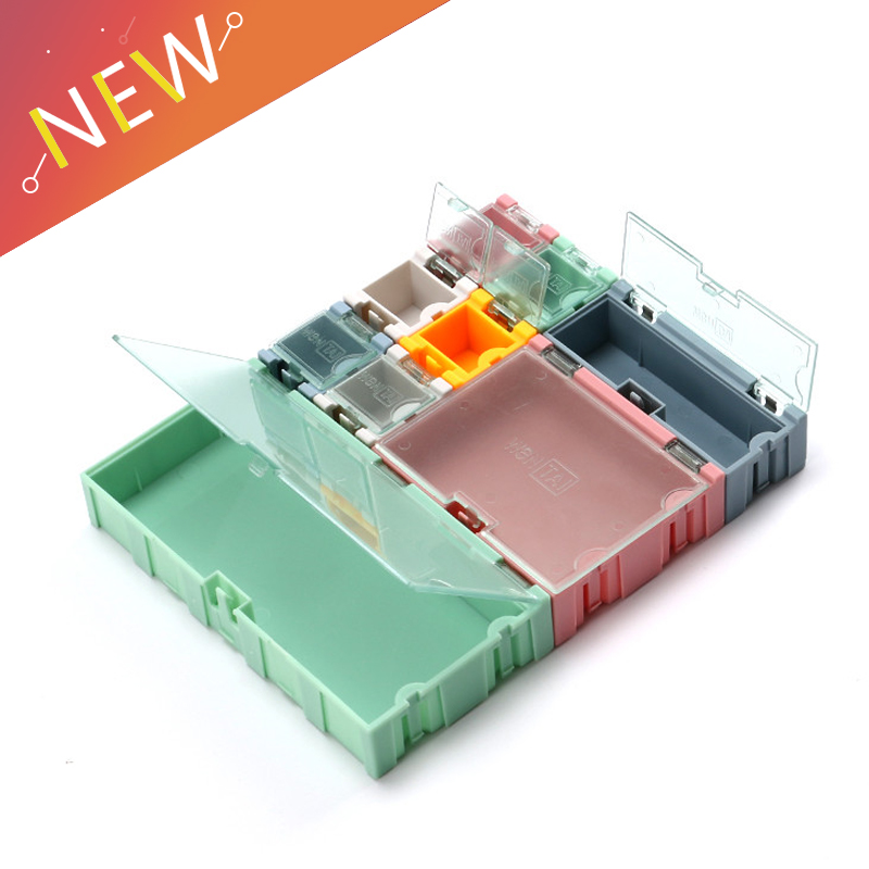 1 Set=9 Pcs SMD SMT IC Electronic Component Mini Storage Box And Practical Jewelry Storaged Case Assorted Kit