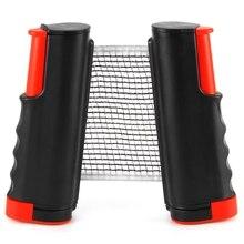Buy Portable Retractable Telescopic Table Tennis Net Rack Replacement Ping Pong Kit Retractable PE Plastic Net Multi-color Unisex