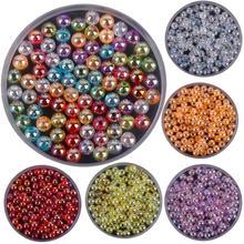 6 мм, 100 шт./лот, высококачественные акриловые бусины AB, прозрачные разноцветные бусины для самостоятельного изготовления ожерелья, браслетов, ювелирных изделий, аксессуары