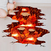[SHIJUEHEZI] Magma 3D Wall Sticker Home Decor Living Room Bedroom Floor Decoration Removable Vinyl Material Decorative Art 3