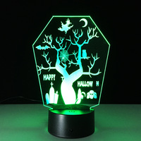 Usb Led 3d Lamp Battery Led Sconce Mini Usb Led Acrylic Night Light Bedroom Halloween Moderne