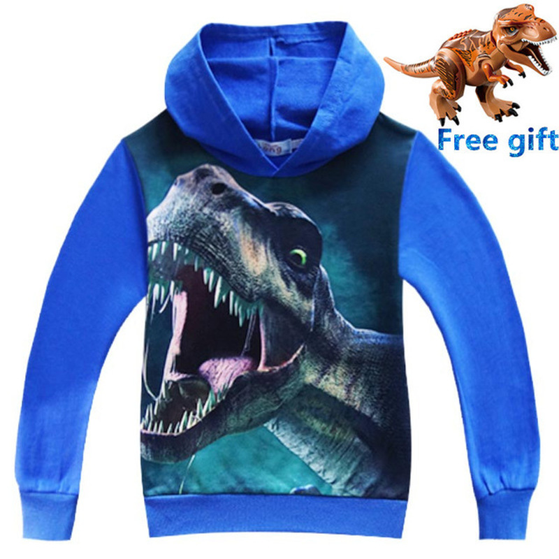 New Jurassic World Dinosaur Children Toddler Boys T Shirt Spring Autumn Baby Gilrs Kids Hoodie Tops Tee for Boy Clothes Clothing 5