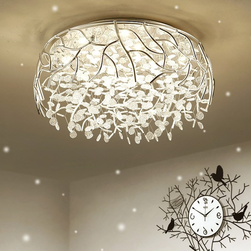 LED Dimmable Modern Crystal Ceiling Lamp Fashion Flush Mount Crystal Ceiling Lights Decoration Lamps For Living Room Lustres