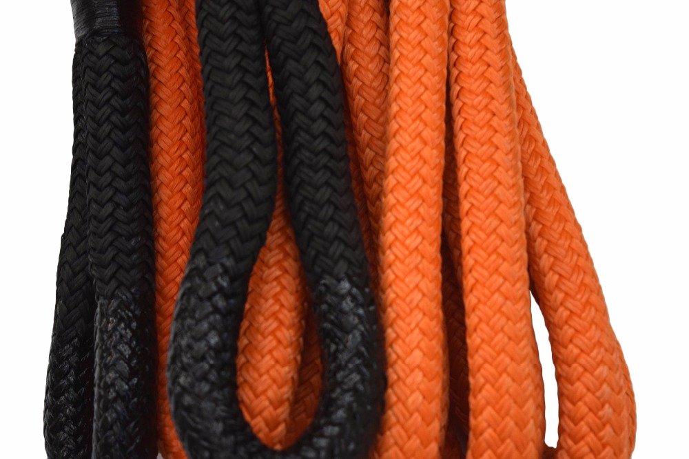 Orange 1inch*30ft Kinetic Recovery Rope,Bubba Rope,Double braied Nylon Energy Rope,Towing Rope