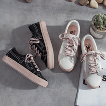f4fc8c9b9b Women Sneakers Ins Canvas Shoes Female Student Korean Street Shoes Ulzzang  Chic Shoes All-match Harajuku 1992 White Shoes 35-39