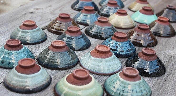 Blue Temmoku Glaze Porcelain Teacups 4