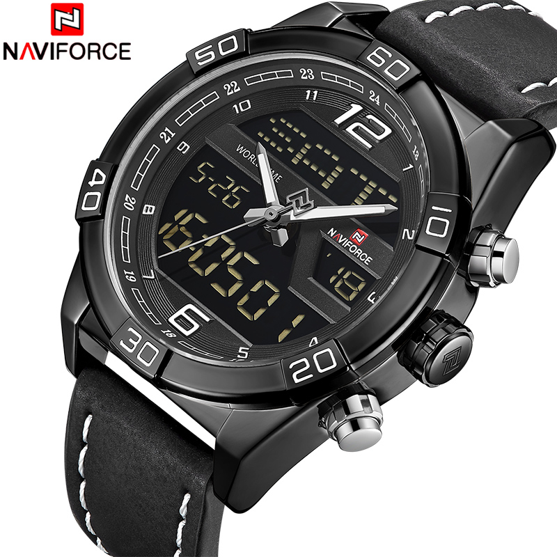 Watch Men Top Luxury Brand NAVIFORCE Fashion Casual Quartz Wrist Watches Male Waterproof Sports Date LED Clock Relogio Masculino top brand luxury naviforce watches men fashion leather quartz date big dial clock casual sports male wrist watch montre homme