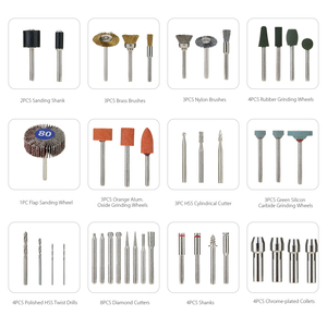 """Image 5 - Meterk 349pcs Rotary Tool Accessories Set 1/8"""" Shank Electric Grinder Accessory Kit for Grinding Sanding Engraving Drilling"""